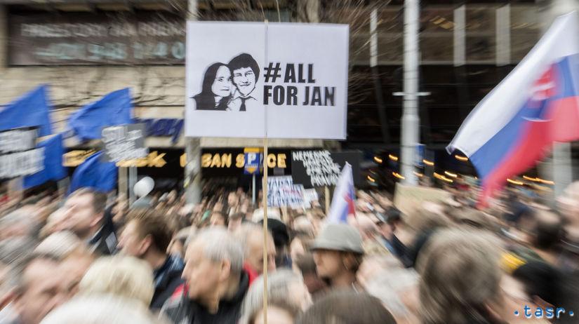 Bratislava protesty Za slušné Slovensko