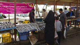 Irán očami cyklocestovateľa, cycle2inspire, rybí trh