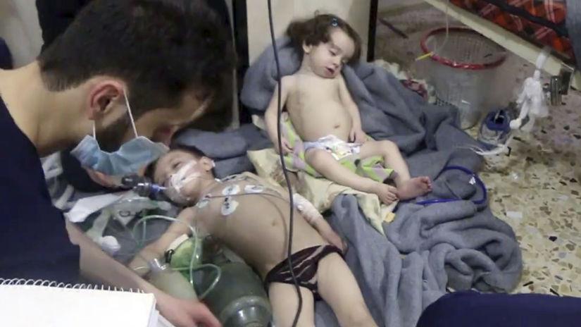 Sýria Ghúta Dúmá útok chemický údajný