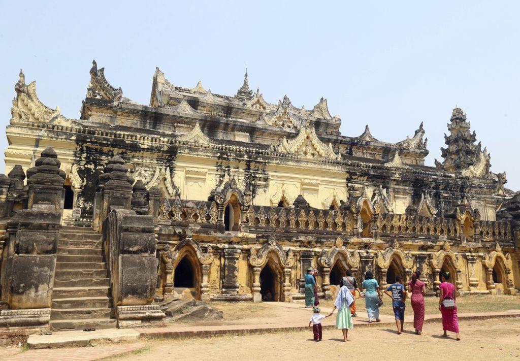 Mjanmarsko, chrám, kláštor