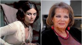 Herečka Claudia Cardinale na zábere z roku 1963 (vľavo) a z roku 2018.
