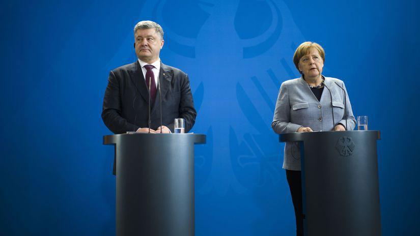 Nemecko Ukrajina Merkelová Porošenko stretnutie