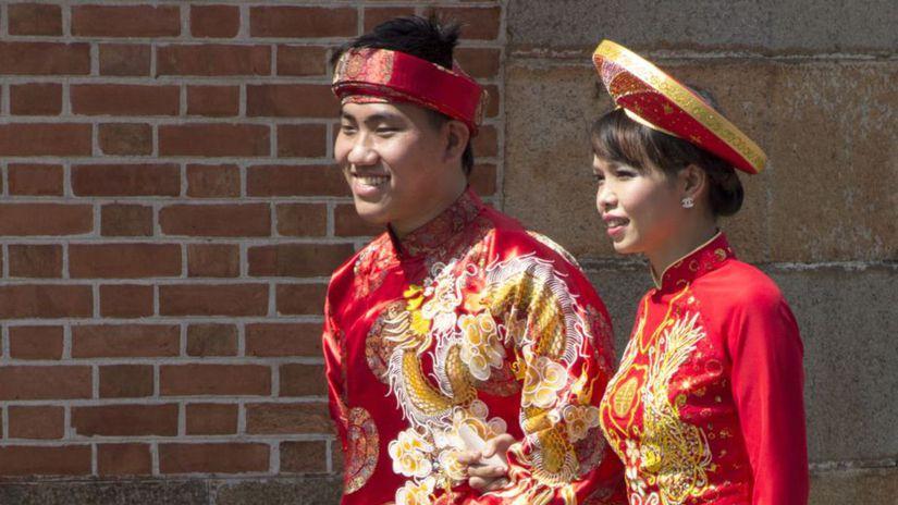 vietnam, šaty, svadba,