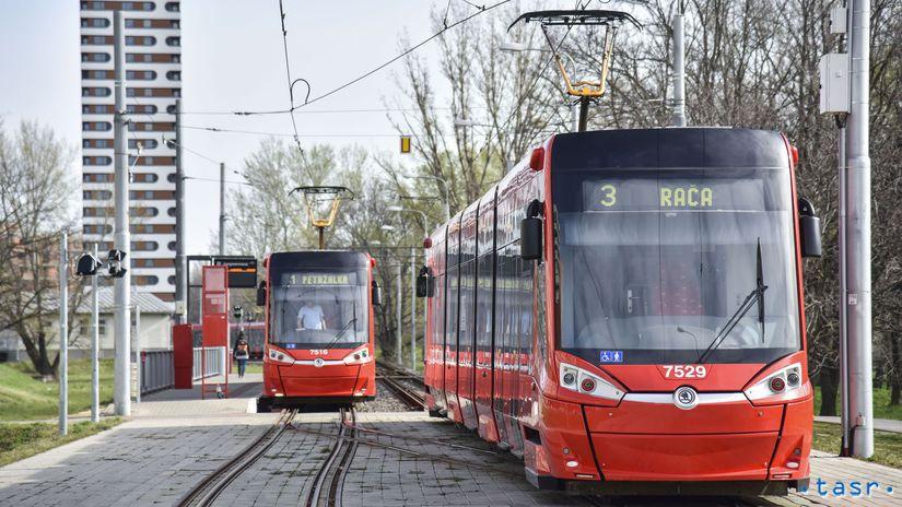 SR Bratislava doprava 2. etapa električka trať...