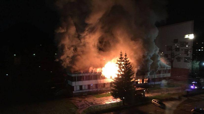 požiar, Považská bystrica, základná škola