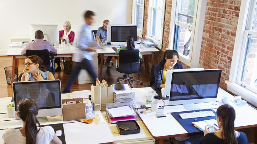 sedenie, kancelária, práca