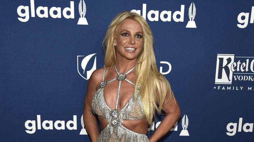 Speváčka Britney Spears na vyhlásení cien GLAAD...