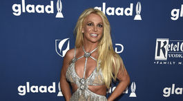 Speváčka Britney Spears na vyhlásení cien GLAAD Media Awards.