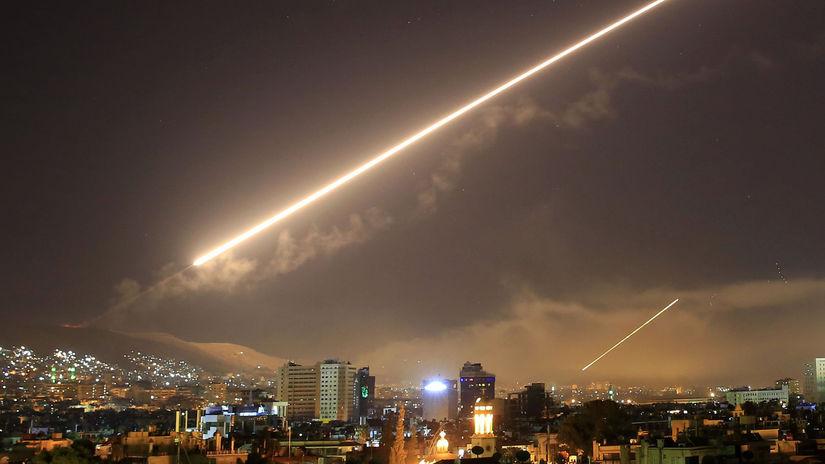 útok na Sýriu, nálet, Sýria, Damask