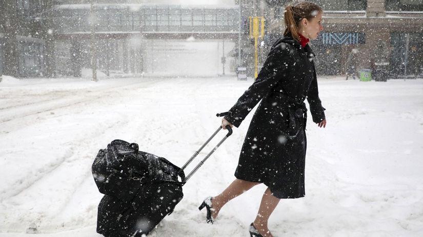 búrky, Minnesota, sneh