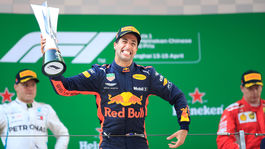 Daniel Ricciardo, Valtteri Bottas, Kimi Räikkönen