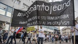 SR protest študenti, #niejenamtojedno, Bratislava