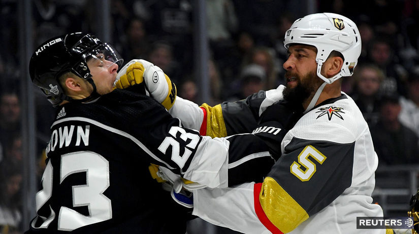 Dustin Brown, Deryk Engelland