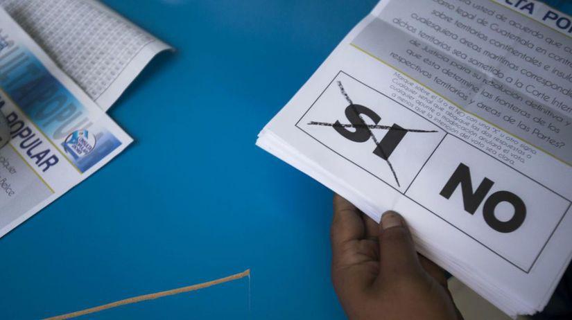 Guatemala Belize spor územný referendum