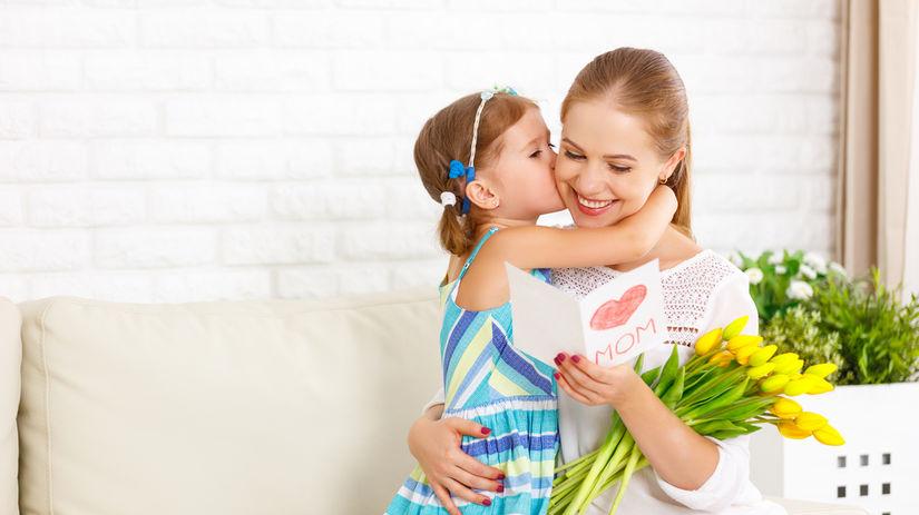 deň matiek, mama, dcéra, kvety