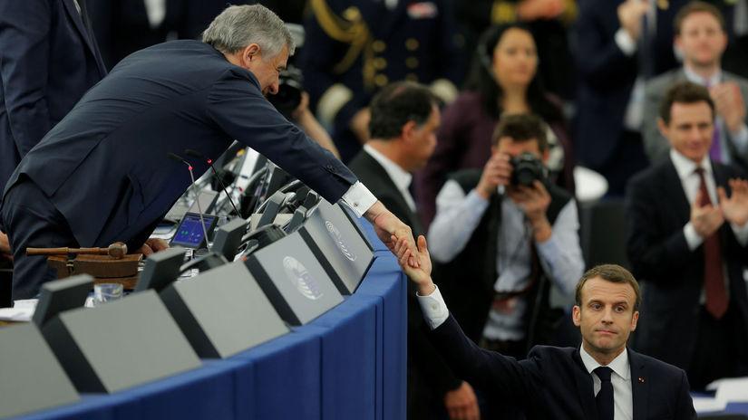 EÚ, Emmanuel Macron, Antonio Tajani, Európsky...