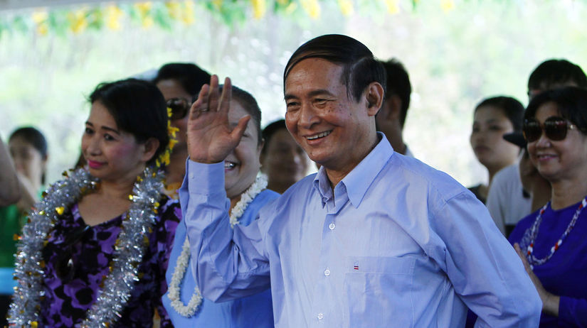 Mjanmarský prezident Win Mjin