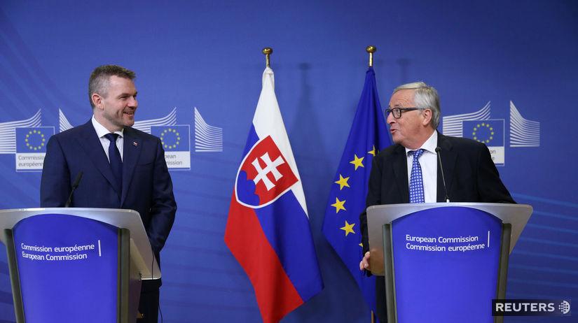 Peter Pellegrini, Jean-Claude Juncker, Európska...