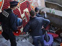 Francúzsko, protest, študenti, Paríž, polícia