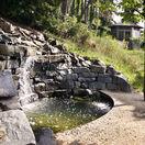 záhrada, relax, jazierko, altánok, príroda