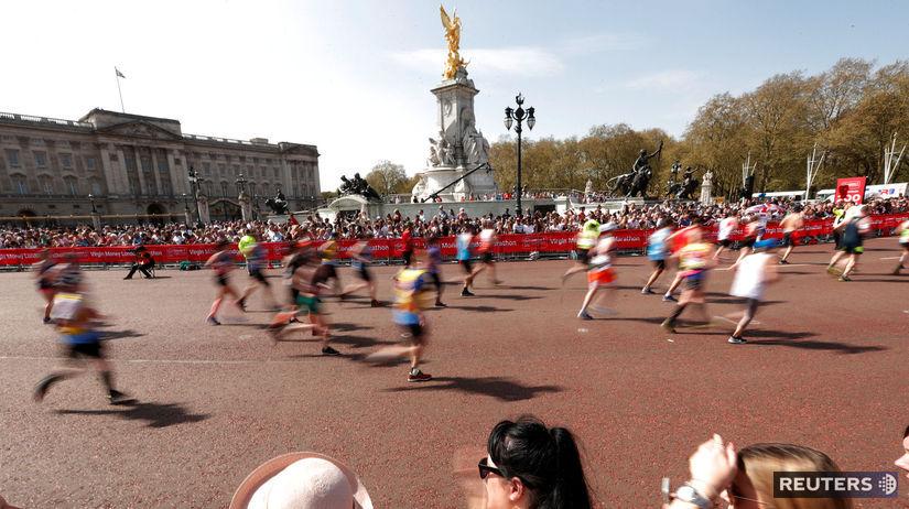Buckhinghamský palác, Londýnsky maratón