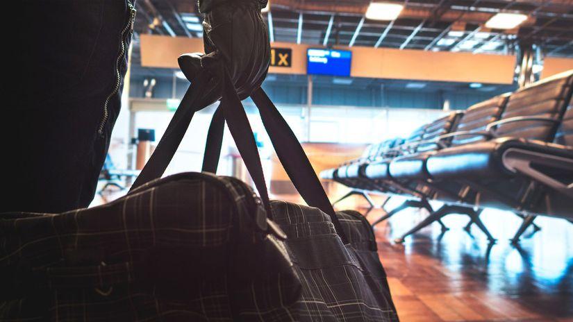 letisko, lietadlo, cestovanie, batožina, taška,...
