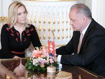 Prezident prijal Denisu Sakovú, vymenovať by ju mal vo štvrtok