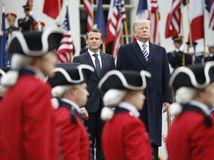 USA, Francúzsko, Macron, návšteva, Trump