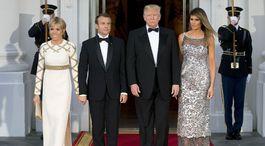 USA Francúzsko Macron Trump večera štátna