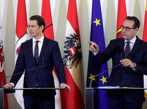 Rakúsko Kurz Strache