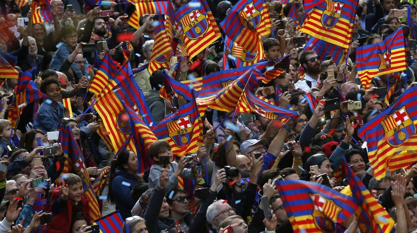 Španielsko futbal FC Barcelona zisk titul oslavy