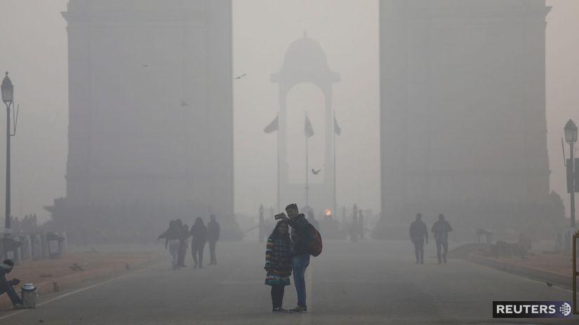 ovzdušie, znečistenie, india, dillí