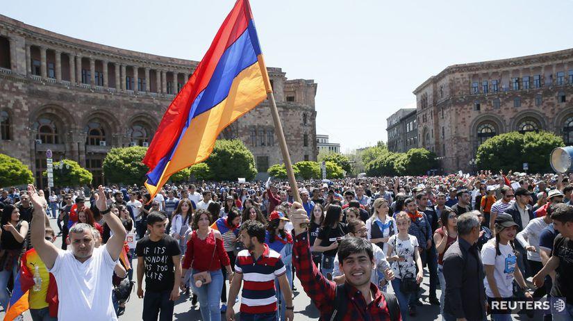 arménsko, protest