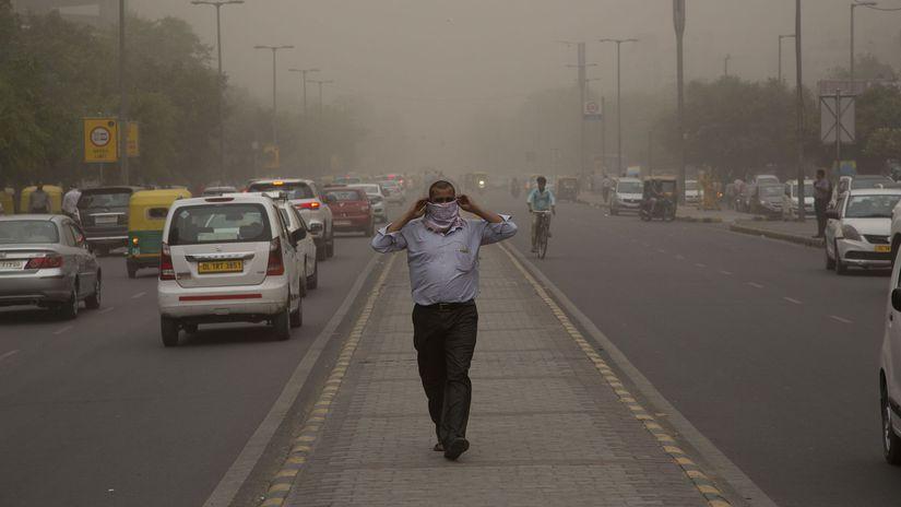 India, búrka, piesočná