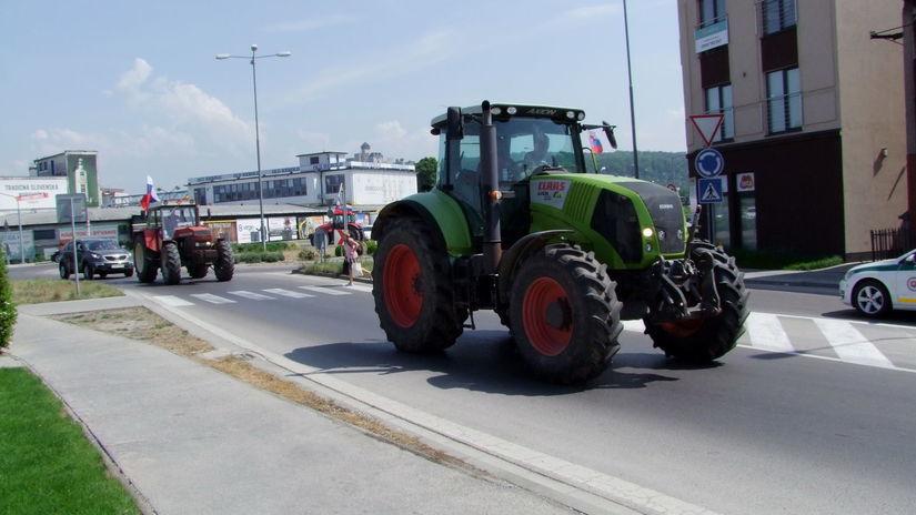 farmári, protest, trenčín, traktor
