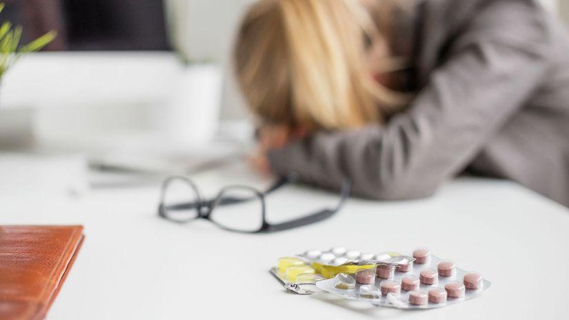 horoba, depresia, liek, tabletky, stres, únava