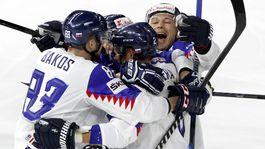 Slovensko, hokej, radosť, gól
