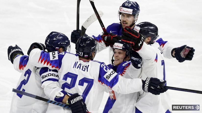 Slovensko, radosť, gól, hokej
