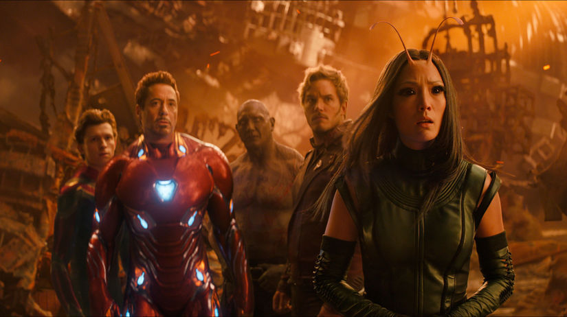 Záber z filmu Avengers: Nekonečná vojna.