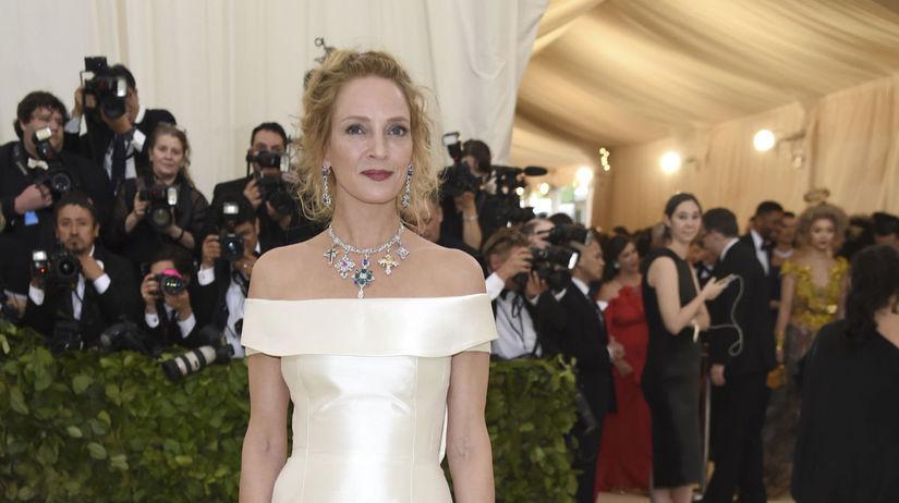 Herečka Uma Thurman prišla v šatách Gabriela...
