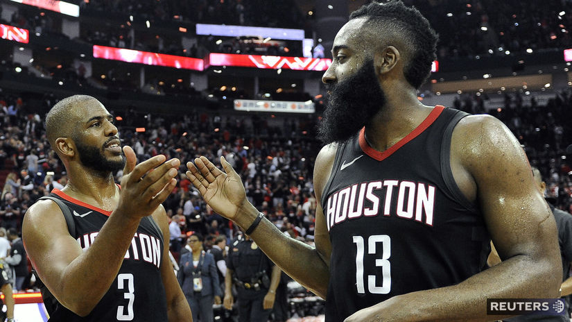 Chris Paul (vľavo) a James Harden. Opory Utahu...
