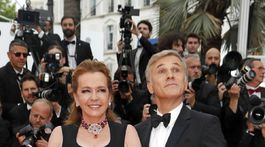Majiteľka klenotníckej značky Chopard Caroline Scheufele a herec Christoph Waltz.