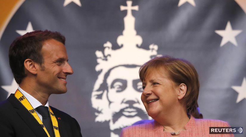 Angela Merkelová, Emmanuel Macron