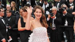 Herečka Laetitia Casta na filmovom festivale v Cannes v roku 2014.