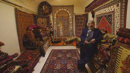 Irán, koberce, bazár