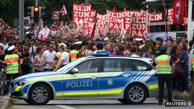 pochod, protest, nemecko, mníchov