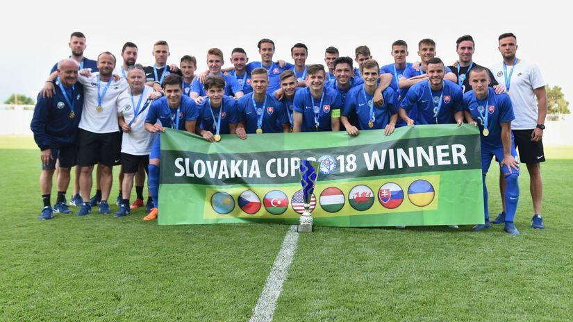 SR futbal U18 Slovakia Cup Slovensko Česko...