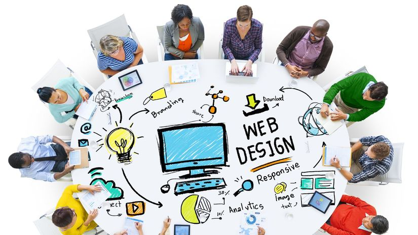 porada, web design, okruhly stol