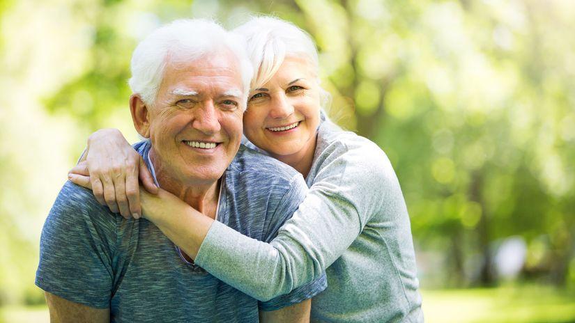 dôchodca, dôchodok, senior, pár