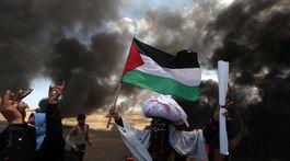 palestína protest pásmo gazy
